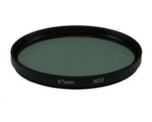 67mm-2X-Neutral-Density-ND2-ND-2-Glass-Filter-Black-NEW