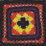 Crochet Pattern ~ SCARY GRANNY MOTIF SQUARE ~ Instructions