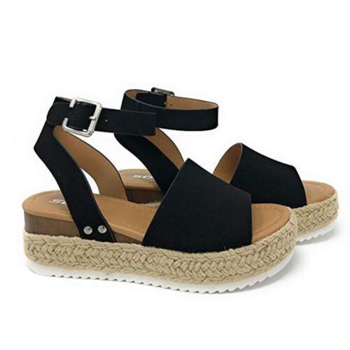 Women/'s Ankle Strap Flatform Wedges Shoes Espadrilles Platform Sandals Holiday