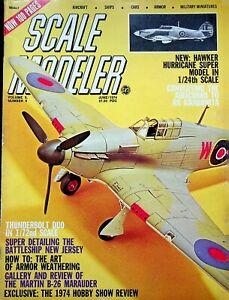 Vtg Scale Modeler Magazine June 1974 Hawker Hurricane Super Model  m100