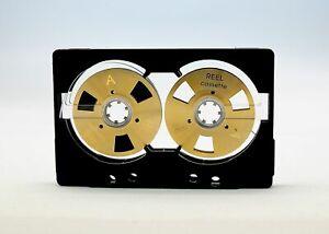 Carrete-a-carrete-de-cinta-de-Cassette-Auto-posicion-De-Cromo-Diseno-Hecho-De-Oro-Tipo-Abierto