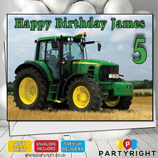 Relative /& Message Personalised Boys Tractor Birthday Card Any Age