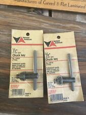 """Drill Chuck Keys 10mm 3//8/"""" and 13mm 1//2/"""" Black Replacement Chuck Key Tool LY"""