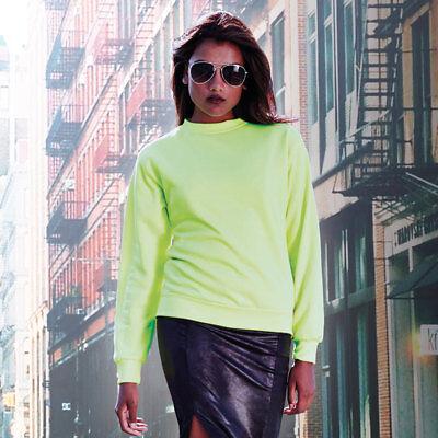 Aktiv Unisex High Visibility Long Sleeve Adult Sweatshirt Crew Neck Bright Jumper New Der Preis Bleibt Stabil
