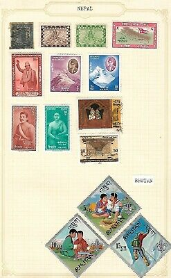 2019 Fashion Nepal And Bhutan Stamps Hinged/mounted Nepal Stamps
