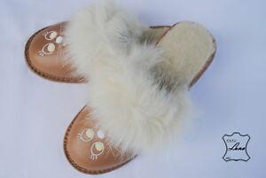 best website 35830 1a540 Details zu Lammfell Damen Pantoffeln Warme Hausschuhe Leder, Latschen Winter