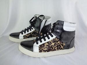Double Chaussures montantes 5 Kenneth Cole Noir Hommes Baskets Blanc Header Guépard 7 sQdtrh