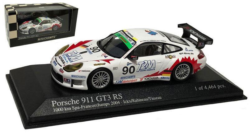 Minichamps Porsche 911 GT3 RSR 'T2M' 1000km Spa 2004 - 1 43 Scale