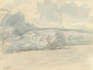 Frank Griffith (1889-1979) - Early 20th Century Graphite Drawing, Country View