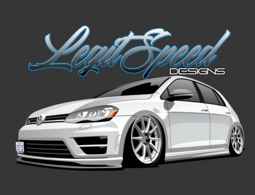 Legit Speed Designs VW 2015-2017 Mk7 GTI Custom No Drill Front License Plate