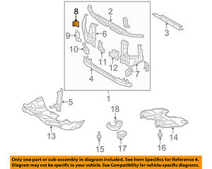 TOYOTA OEM 05-16 Tacoma Radiator Core Support-Side Panel Gusset Right 5716704010