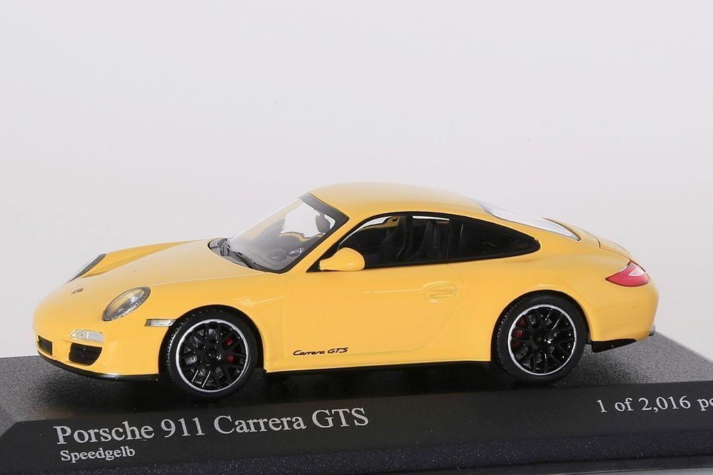Porsche 911 (997 II) Carrera GTS 2011 jaune Minichamps 1 43 Nouveau Neuf dans sa boîte