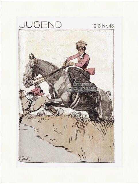 Titelseite der Nummer 45 von 1916 Angelo Jank Reitsport Pferd Zügel Jugend 4084