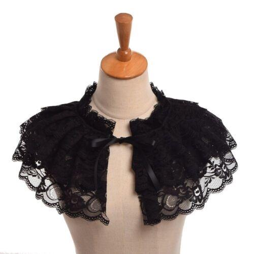 1pc Vintage  Lace Neck Ruff  Victorian Steampunk Lolita Neck Collar Mini Cape