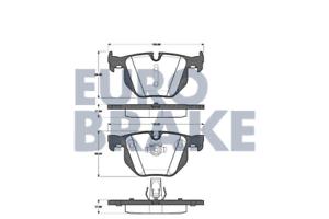 Eurobrake 5502221526 Bremsbelagsatz Scheibenbremse