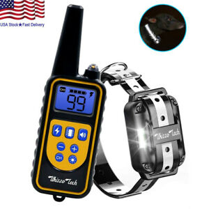Dog-Shock-Training-Collar-Rechargeable-Remote-Control-Waterproof-IP67-875-Yards