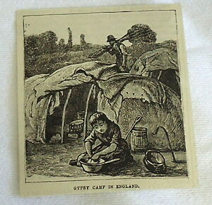 small-1882-magazine-engraving-GYPSY-CAMP-IN-ENGLAND