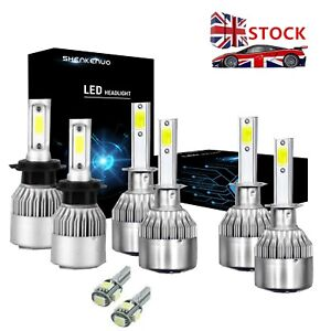 Vauxhall Vivaro 100w Clear Xenon HID High//Low//Fog//Side Headlight Bulbs Set