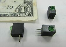 25 Green Mounted Leds 3mm Miniature Warning Indicator Light Lamp Pcb Thru Solder