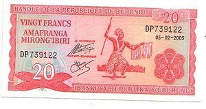 Burundi-20-franchi-2005-FDS-UNC-Pick-27-d-Lotto-3572
