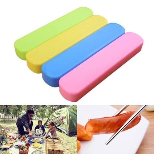 3cps//Set Voyage picnic déjeuner en Acier Inoxydable Baguettes Cuillere Fourchette Vaisselle Set