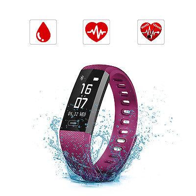 Pulsera Inteligente Bluetooth SAVFY Reloj Impermeable Rastreador de Ejercicios
