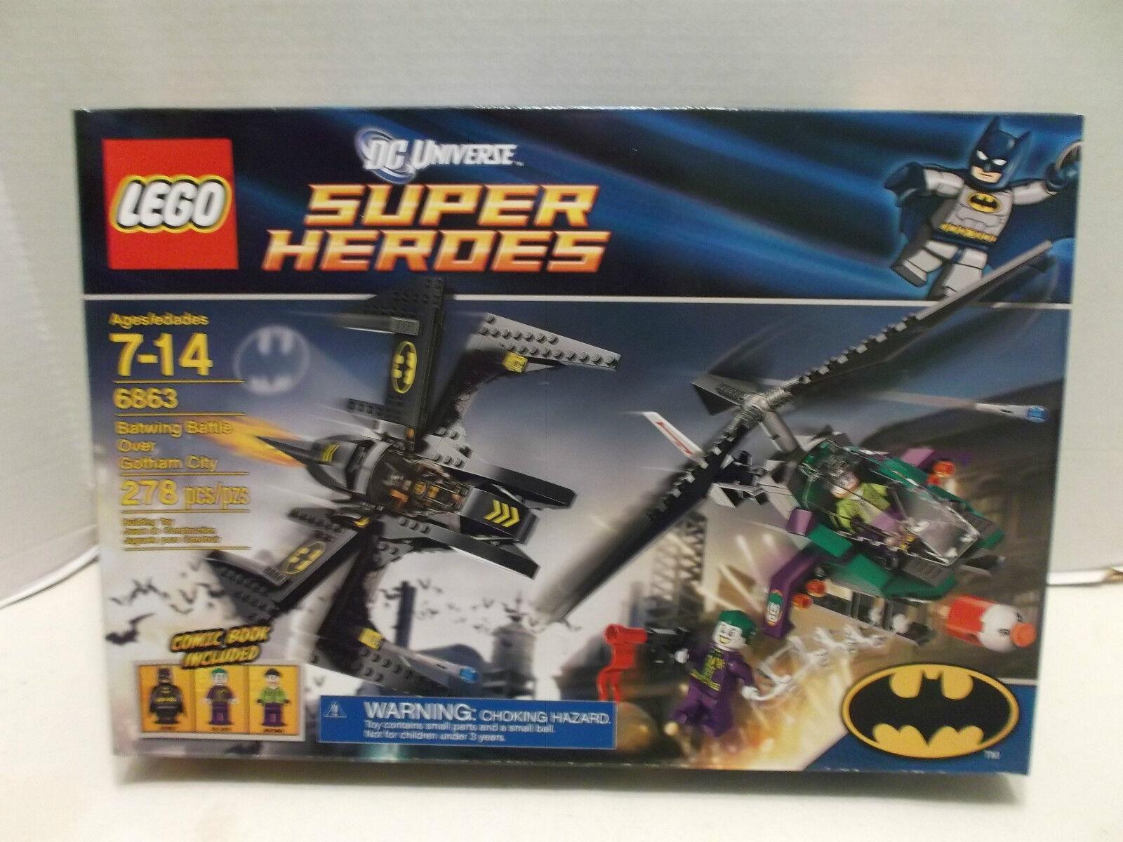 Lego  6863 Batwing Battle Over Gotham City DC Univ. Super Heroes RHTF NIB 2012