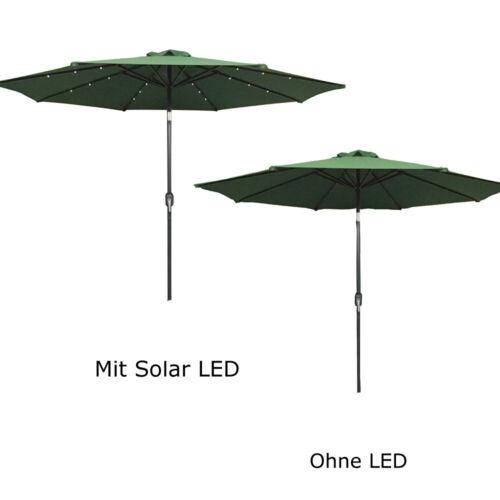 Sonnenschirm Ø3m ALU Pendel Schirm LED Ampelschirm Marktschirm UV-Schutz Balkon