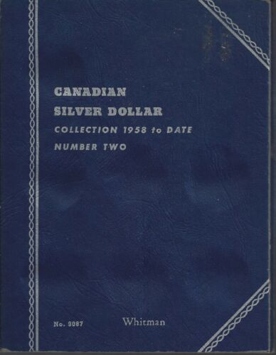 Canadian Silver Dollar Collection 1958-1963 Whitman Folder 18 Unmarked Slots