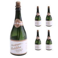 5 Pcs Champagne Bottles Bubble Empty Bubbles Wedding Supplies Party Favors Decor