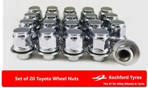 Black Wheel Nuts /& Locks 16+4 12x1.5 Bolts Toyota Land Cruiser Prado J120 02-09