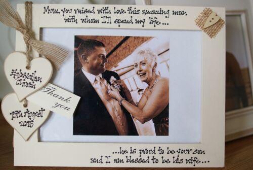 mère du marié cadeau 7x5/'/' Personnalisé cadre photo par filly folie