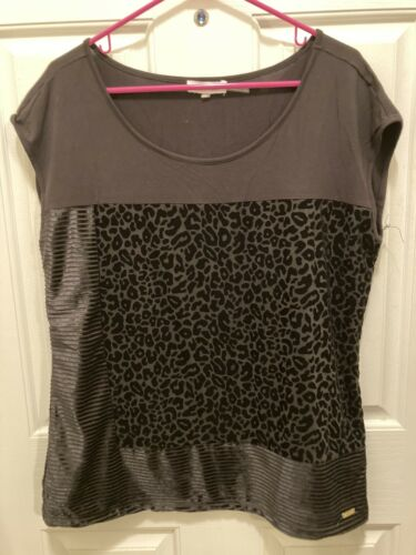 Calvin Klein Pleated Top Black 1x