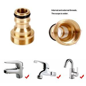 Solid-Brass-Threaded-Hose-Water-Pipe-Connector-Kitchen-Tube-Tap-Adaptor