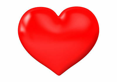 Framed Print - Big Red Love Heart (Picture Poster ...