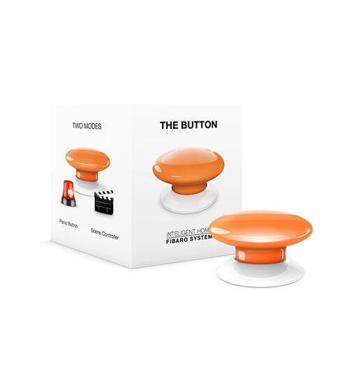 Fibaro FGPB-101-8 US The Button, Z-Wave Scene Controller, orange, NEW