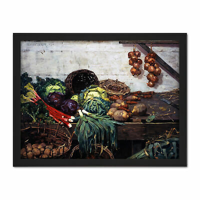 ADVERTISEMENT AUGUSTA MARKET VEGETABLE FOOD KITCHEN FRAMED ART PRINT B12X6123
