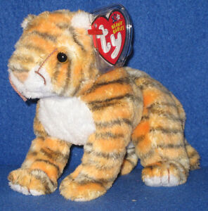 TY MYSTIQUE the TIGER BEANIE BABY MINT with MINT TAG