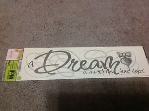 Image Is Loading Main Street Wall Creations Stickers A Dream Is