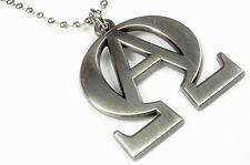 ALPHA OMEGA Jesus God Christian Bible Harley Biker Pendant Necklace with Chain