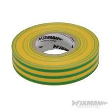Green/Yellow Electricians PVC Insulation Insulating Tape 19mm x 33m Ground Wire