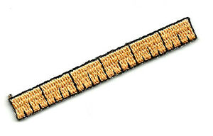 """Embroidered Iron On Applique Patch 5.7cm Ruler School 2.25/"""""""