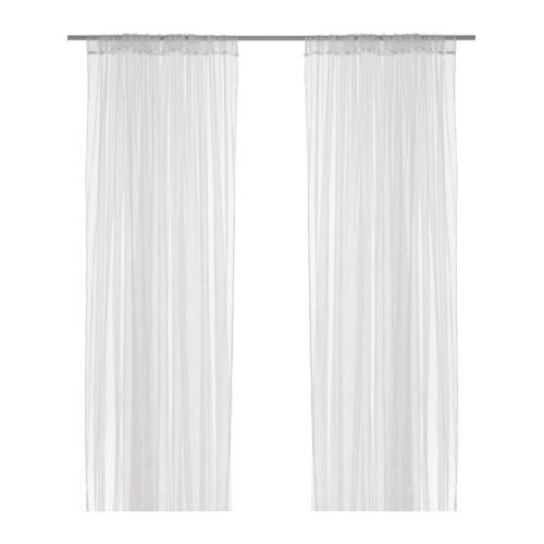 Ikea LILL Cortinas Transparente blancoo 8 Juegos = 16 Paneles