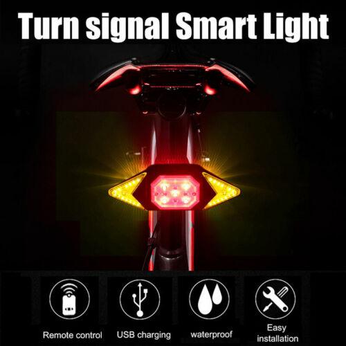 Intelligent Bike Turn Signal Indicator Light Wireless Remote Control Rear Lamp