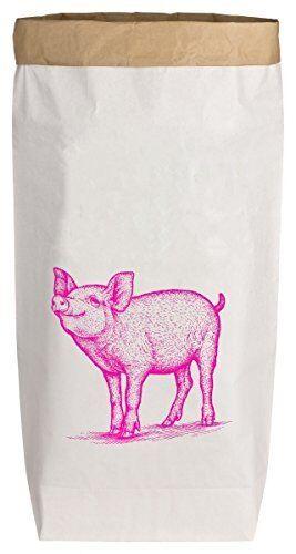 Paperbag Papiertüten mit Motiv DRECK SACK Größe L 40x15x70 cm bis 40 kg Traglast