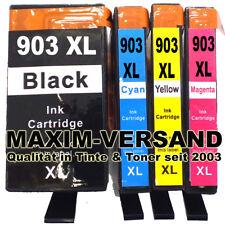 4x Tinte für HP 903 XL Black Cyan Yellow Magenta alle Farben mit Chip im Set