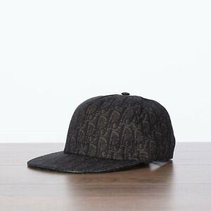 DIOR-450-New-Baseball-Cap-In-Gray-Cotton-With-Dior-Oblique-Motif-L