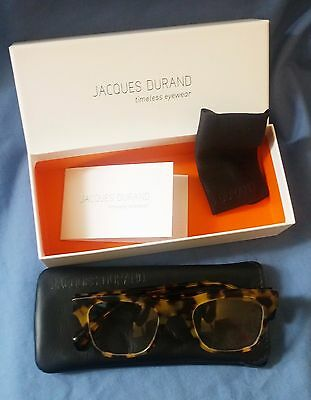 Jacques Durand Eyeglasses Frames Madere Tortoise - Made in Italy - $320 Retail