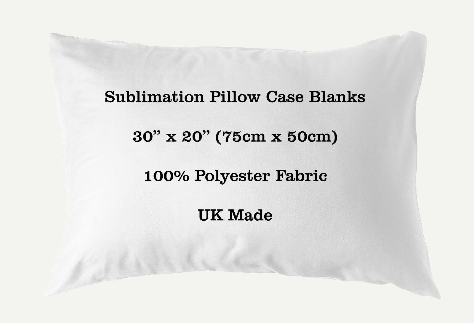 Sublimation Pillow Case Blank 100% Polyester 30  x 20  75cm x 50cm Heat Transfer