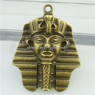 16847 6PCS Alloy Bronze Akhnaton Pharaoh Egyptian Pendant Egypt Charm